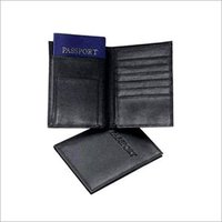 Black Leather Passport Covers