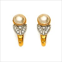 DIAMOND STUDDED GOLD EARRINGS