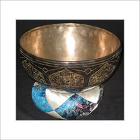 Tibetan Engraved Singing Bowl