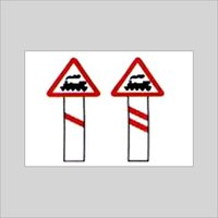 Unguarded Level Crossing Signs