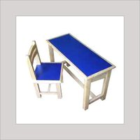 Wooden School Chair & Bench