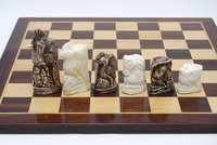 Handcarved Camel Bone Bird Chess Set