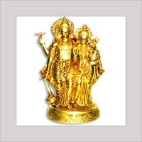 Brass Idol Of Vishnu & Laxmi Ji