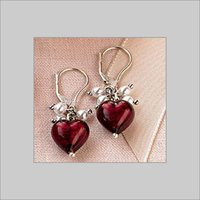 DESIGNER GLASS BEAD EARRINGS