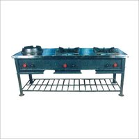 Stainless Steel Gas Range Three Burner