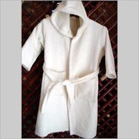 Sun White Children Hooded Robe