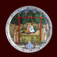 Marble Thali with Painting