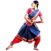 Ladies Folk Dance Saree