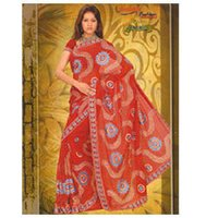 Hand Embroiderd Silk Sarees