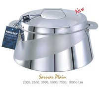 SAROVAR PLAIN STAINLESS STEEL HOT CASE