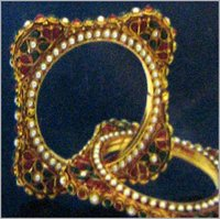 Designer Gemstone Studded Bangles