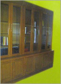 Book Shelf With Natural Teak Wood Finish