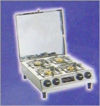 4 BURNER GAS WITH  Lid