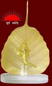 Gold Natural Pipal Leaf