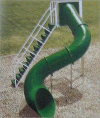 SPIRAL TUBE SHAPE GARDEN SLIDE