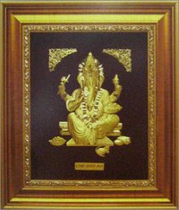 GOLD GANESH JI COMMEMORATIVE FRAME
