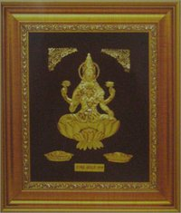 GOLD SARASWATI JI COMMEMORATIVE FRAME