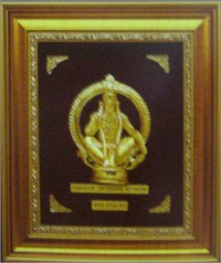 GOLD HOLY COMMEMORATIVE FRAME