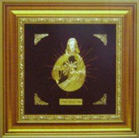 GOLD JESUS CHRIST COMMEMORATIVE FRAME