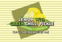 Lemon with Green Chilli Pickle