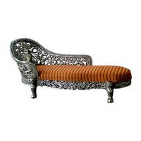 Silver Coated Sofa