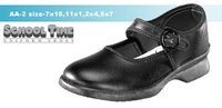 Black Color Girls School Shoes