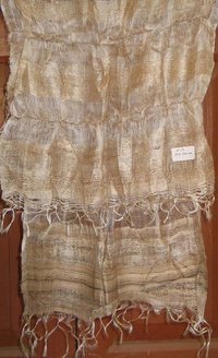 Tassar Natural Yarn Silk Stoles