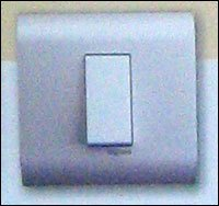 SILVER MODULAR SWITCH WITH PLATE