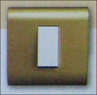 GOLD MODULAR SWITCH WITH PLATE