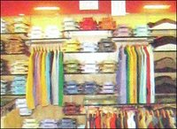SHOWROOM WALL MOUNTED GARMENTS DISPLAY RACK