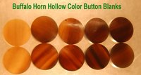 Buffalo Horn Hollow Color Button Blanks