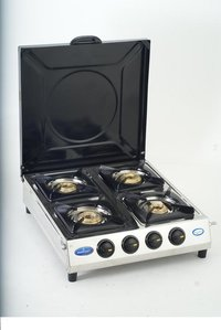 Four Burner Gas Stove With Cover