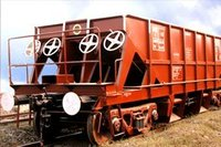 Side Discharge Hopper Freight Car Type Bobyn