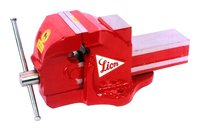 Lion Brand Heavy Duty Bench Vice (Plain Screw Type With Anvil And Double Ribs)