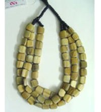 Stranded Olive Green Color Necklace
