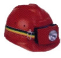 Helmet Fitted With Head Lamp