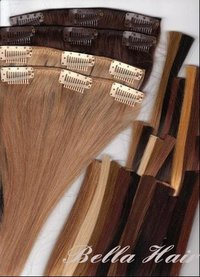 Clip In Full Head Set Chinese Or Indian Human Hair Extensions