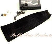 Double Drawn And Single Drawn Human Hair Weft