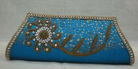Antique Gold Bead Clutch Bag