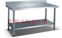 Stainless Steel with Splashback Work Bench(Square Leg) HWT-2-66SP