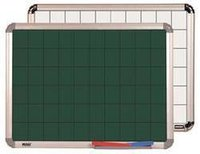 Green Gridline Chalk Boards