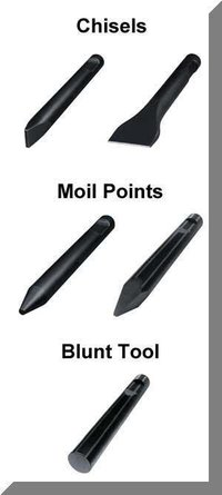 Hydraulic Breaker Moil Chisel Blunt Points