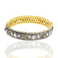 Rosecut Diamond 14k gold Designer Wedding Bangle