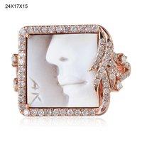 14k Gold Ruby Gemstone Band Diamond Wedding Ring