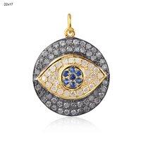 Diamond Hamsa Charm Pendant