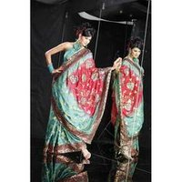 Embroidered Synthetic Sarees