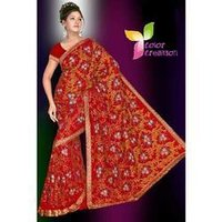 Heavy Weight Embroidered Saree