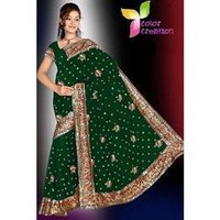 Heavy Designer Embroidered Sarees