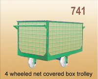 4 Wheeled Net Covered Box Trolley