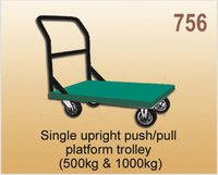 Single Upright Push/Pull Platform Trolley